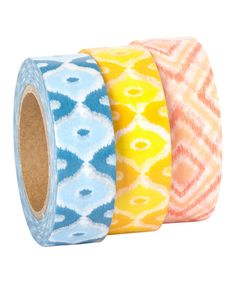 Look at this Ikat Washi Tape - Set of Three on #zulily today!