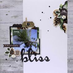 Bliss - Scrapbook.com Love the composition and materials used
