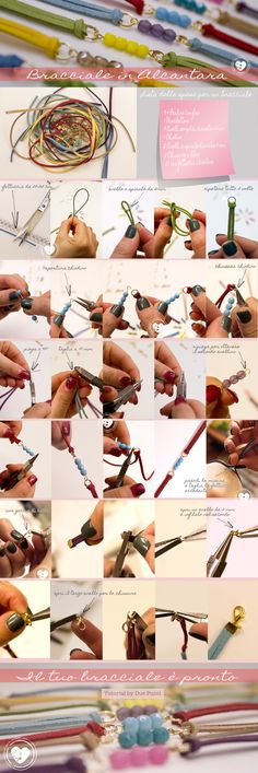 #tutorial #bracciale in alcantara
