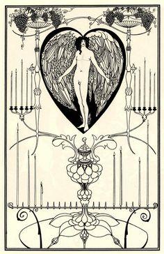 The Mirror of Love by Aubrey Beardsley