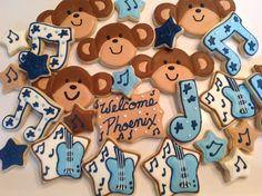 Monkey Rockstar Cookies