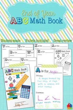This End of Year math activity is sure to keep your students busy while having fun while demonstrating their knowledge and creativity! This is the perfect project to keep them calm as they get antsy for summer. Guide to use, rubric, and book are included!