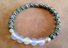 Wellness Bracelet, Gemstone Bracelet, Stretch Bracelet, Hematite Bracelet…