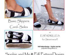 2 en patrón 1 paquete para zapatillas de rayas por PdfPatternDesign