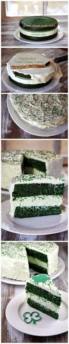 green velvet cheesecake cake more cakes pies cheesecake cake cakes ...
