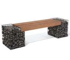 What a great modern design! BOXHILL's Steel Gabion Bench (Mexican Beach Pebble) will add interest, architecture and a beautiful place to sit in your outdoor space. Designed and manufactured in the USA. View our whole collection of outdoor furniture at www.shopboxhill.com