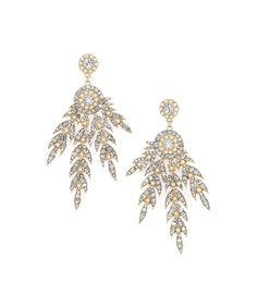 Look at this #zulilyfind! Kristin Perry Accessories Goldtone & Crystal Leaf Sparkle Drop Earrings by Kristin Perry Accessories #zulilyfinds