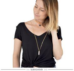 Gargantilha coleira dourada com pingente | Colar com pedra | Mix de acessórios #moda #acessórios #mix #look #looknowlook
