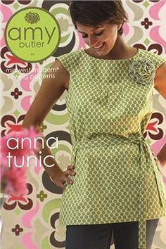 Amy Butler - Anna Tunic Pattern.  This would be a cute dress if you added a little length.