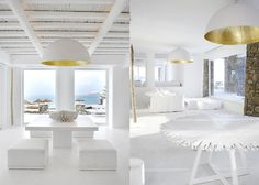 White and white colour decors. Interior design.