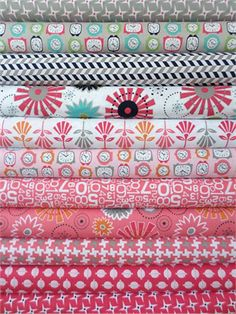 Bee In My Bonnet, Gracie Girl, Pink 11 Total if we have a girl Quilt Material, Machine Quilting, Quilting Fabric, Textiles, Modern Fabric, Fat Quarters, Fabric Online, Fabric Patterns, Fabric Crafts