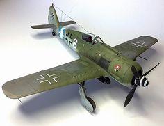 """Lt. Gustav Salffner's FW 190A8 """"Weiss 6"""", of 7./JG300 (Eduard 1:48)"""