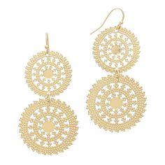 New Golden Suns Filigree Earrings