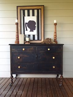 Dresser Painted By Ferpie U0026 Fray In Pitch Black By The Old Fashioned Milk  Paint Co