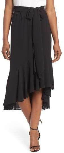 2df378a8dba Women Fashion Asymmetrical Plus Size 5XL Split High Low Skirt High ...