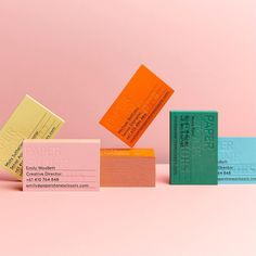 """4 Likes, 1 Comments - Paper Stone Scissors (@paper_stone_scissors) on Instagram: """"Our new business cards and branding that expands across 6+ colours to represent our diverse team …"""""""