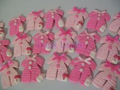 Looking for recuerdos para baby shower? Take a look at collection videos and picture of recuerdos para baby shower and get inspired Baby Shower Snacks, Baby Shower Favours, Baby Favors, Baby Shower Decorations, Scrap Yarn Crochet, Crochet Dolls, Crochet Baby, Unicorn Birthday Parties, Diy For Girls