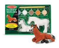 Decorate Your Own Horse Figurines - 2 Figurines