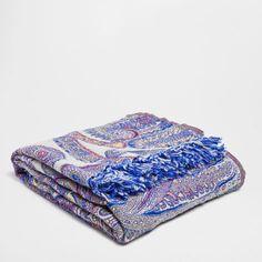 Fuchsia Paisley Blanket - Throws - Decor and pillows   Zara Home United States