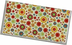 Checkbook Cover  Let's Pretend Floral by rabbitholeonline on Etsy, $6.25