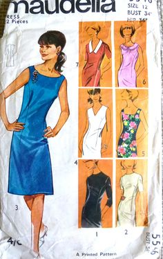 Vintage Dress Sewing Pattern. Maudella Pattern 5546. Vintage Sewing Patterns, Clothing Patterns, St Clare's, Ladybird Books, Dress Sewing, Great Books, Vintage Dresses, Small Businesses, Cyber