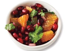 Pomegranate-Orange Salsa by Cooking Light Fresh Salsa Recipe, Fresh Tomato Recipes, Cooking Light Recipes, Fun Cooking, Cooking Pork, Pomegranate Recipes, Pomegranate Juice, Healthy Snacks, Healthy Recipes
