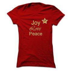 (Tshirt mostSale) Joy Love Peace Christmas at Tshirt Army Hoodies, Tee Shirts
