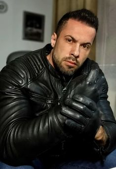 INLEATHERGLOVES — Handsome in gloves Leather Driving Gloves, Leather Gloves, Black Leather Biker Jacket, Handsome, Sexy, People, People Illustration, Folk