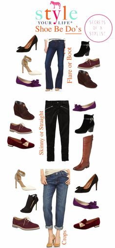 Awesome quick guide on what shoes to wear with certain pant styles