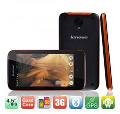 "Lenovo S750 4.5"" Capacitive Touch Screen Android 4.2 MTK6589 1.2GHz Smart Cellphone with 1GB RAM 4GB Memory Dual Camera GPS WIFI Orange"