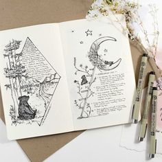 Beautiful Layout and Bullet Journal Idea by Christine My Linh. Check out the time lapse!
