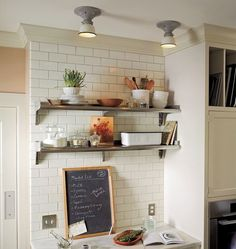 Shelving...    via frolic!  Photos by Michael Jones for Rejuvenation. Styled by Chelsea Fuss