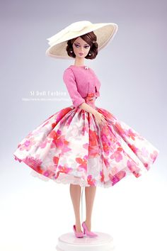 vintage dress with jack for Silkstone Barbie by SL by Sanglian