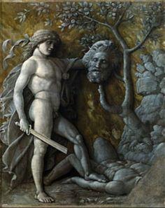 Andrea Mantegna. David con la cabeza de Goliat . 1490/95