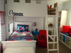 ikea hacker's boys super hero bedroom