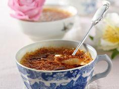 Crème brûlée  med rabarber