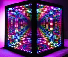 Infinity Lights, Infinity Mirror, Light Art, Lamp Light, Light Table, Nightmare Before Christmas Lamp, Photowall Ideas, Handmade Lamps, Stained Glass Lamps