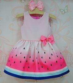 Vestido Infantil Melancia Mon Sucré - Árvore Mágica