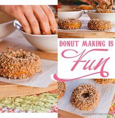 pecan pumpkin glazed donuts | purelytwins