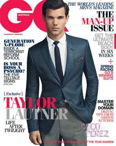 Taylor Lautner on Australian GQ