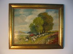 Sheppard Continental Landscape 20th Century Oil On Canvas
