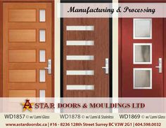 Exterior Doors with Lami Glass and Stainless