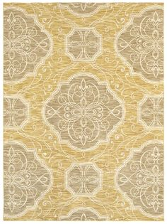 "Area Rug in style ""Edendale"" color Gold - by Shaw Floors"