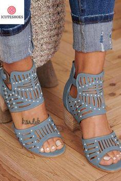 Heel Height Type:Low Heel Upper Material:Artificial Suede Shoes Style:Slip-On Heel Height:Low Heel Type:Chunky Heel Occasion:Casual Toe Type:Open Toe Gender:Women Style:Casual Theme:All Season Color:Deep Khaki,Taupe,Black,Blue Length Heel Pumps, Mid Heel Sandals, Mid Heel Shoes, Gladiator Heels, Shoes Heels, High Heels, Buy Shoes, Shoes Sneakers, Shoes Jordans
