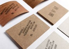 Marc Vicens Mesquida wood business card designed by Josep Roman Barri.