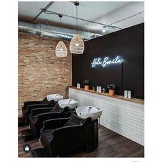 Barber Shop Interior, Hair Salon Interior, Barber Shop Decor, Salon Interior Design, Interior Design Photos, Beauty Room Decor, Beauty Salon Decor, Beauty Salon Design, Beauty Salons