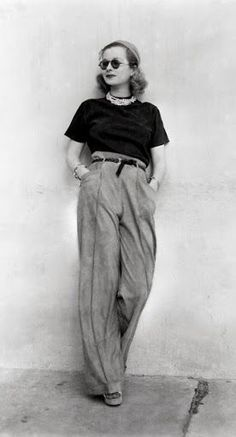 My favorite: 1930s trousers. VINTAGE style