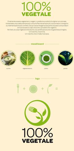 100% VEGETALE - Logo - Brochure by Alessio Salatino, via Behance