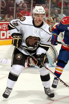 10.27.13 - Hershey Bears player,  Nathan Walker.  Photo courtesy of JustSports Photography