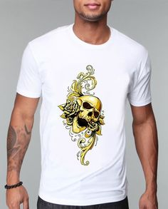 https://www.navdari.com/products-m00268-YELLOWSKULLANDFLORALTSHIRT.html #yellow #skull #floral #TSHIRT #CLOTHING #Men #NAVDARI